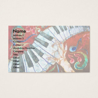 Piano Business Card Template 2 (light)