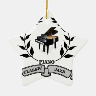 piano c jazz ceramic ornament