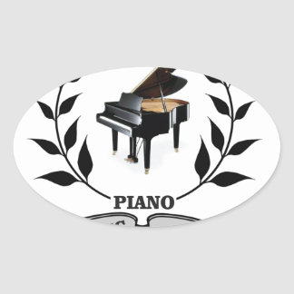 piano c jazz oval sticker