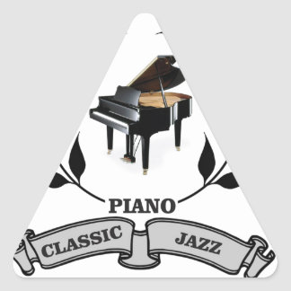 piano c jazz triangle sticker