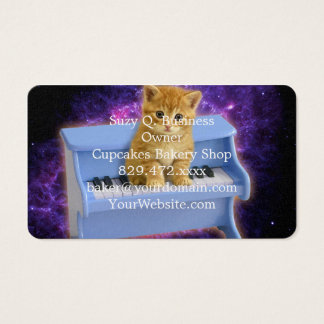 Piano cat business card
