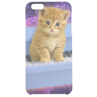 Piano cat clear iPhone 6 plus case