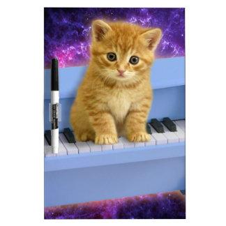 Piano cat dry erase board