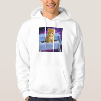 Piano cat hoodie