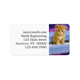 Piano cat label