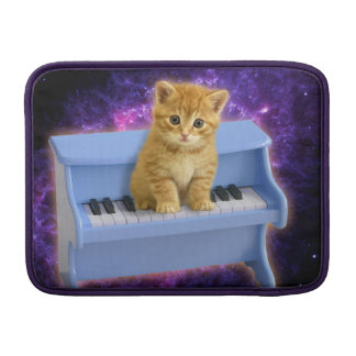 Piano cat MacBook sleeves
