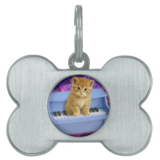Piano cat pet ID tag