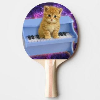Piano cat ping pong paddle