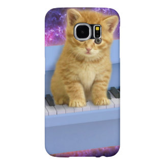 Piano cat samsung galaxy s6 cases