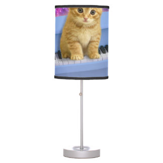 Piano cat table lamp
