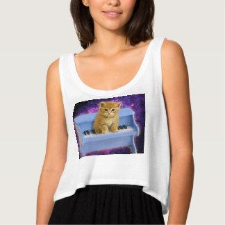 Piano cat tank top
