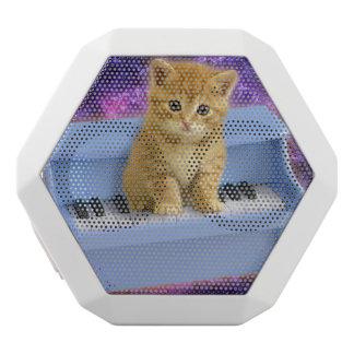 Piano cat white bluetooth speaker