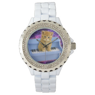 Piano cat wristwatches