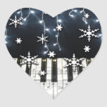 Piano Christmas Snowflake Keyboard Stickers
