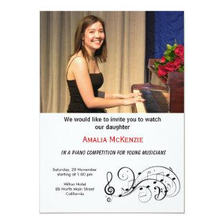 """Piano Competition 5"""" X 7"""" Invitation Card"""