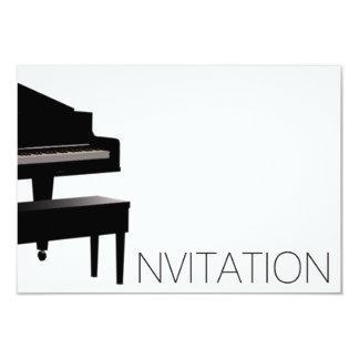 Piano Concert Festival Vip Black White Card