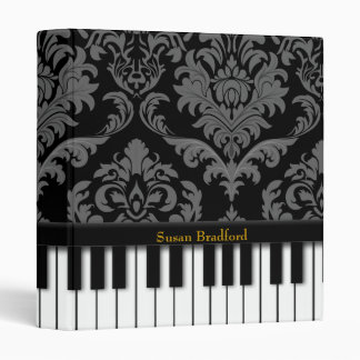Piano  (Damask Print) Binder