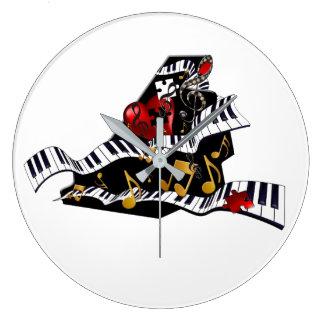 Piano Design Music Decor Wall Clock Juleez