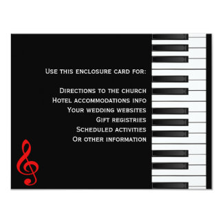 Piano Enclosure Card