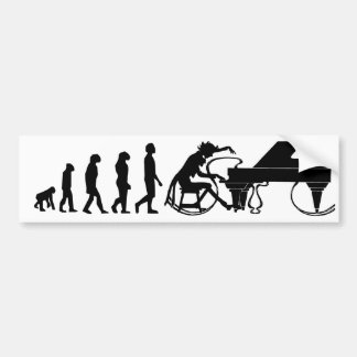 Piano Evolution Bumper Sticker