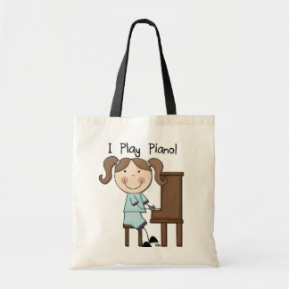 Piano - Female Tshirts and Gifts Budget Tote Bag