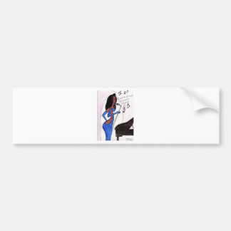 PIano Girl Bumper Sticker