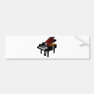 piano gloss black bumper sticker