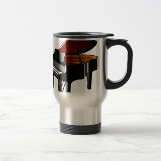 piano gloss black travel mug
