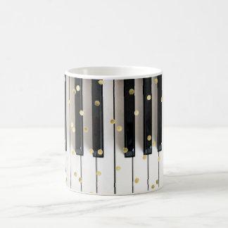 piano gold foil confetti coffee mug