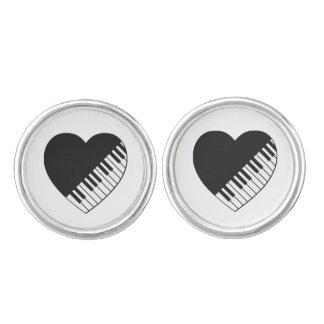 Piano Heart Cufflinks