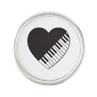 Piano Heart Lapel Pin