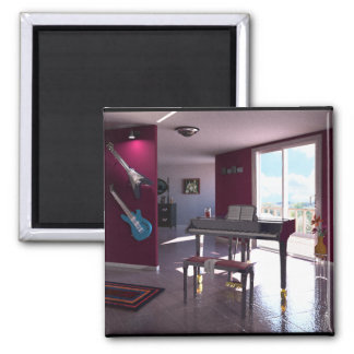 Piano in Room magnet