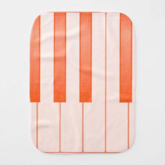 Piano Key Background Burp Cloth