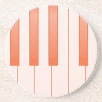 Piano Key Background Coaster