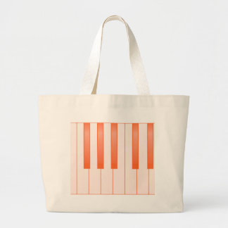 Piano Key Background Large Tote Bag