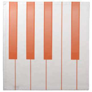 Piano Key Background Napkin