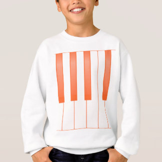 Piano Key Background Sweatshirt