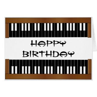 Piano Key Birthday Card