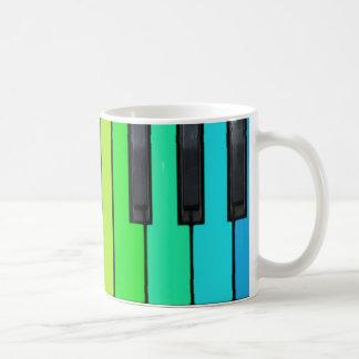 piano key designed mug