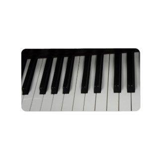 Piano key labels