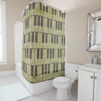 Piano Key Music Bathroom Shower Curtain
