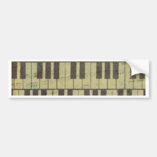 Piano Key Music Note Bumper Sticker