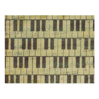 Piano Key Music Note Postcard