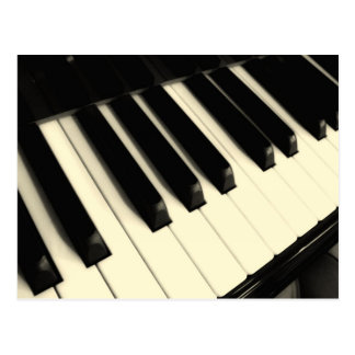 Piano Key Postcard