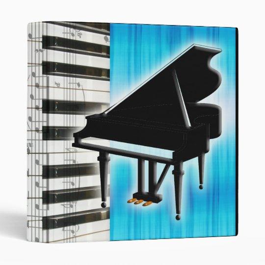 Piano Keyboard and Music Notes Binder