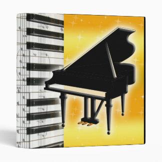 Piano Keyboard and Music Notes Binders