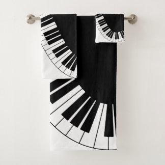 Piano Keyboard Bath Towel Set