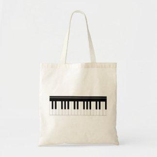 Piano keyboard budget tote bag
