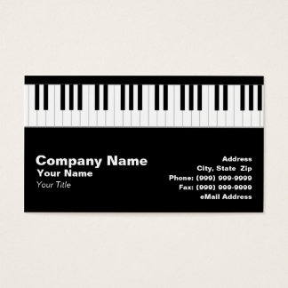 Piano Keyboard Business Card
