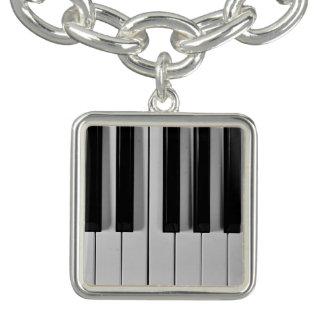 Piano Keyboard Custom Charm Bracelet